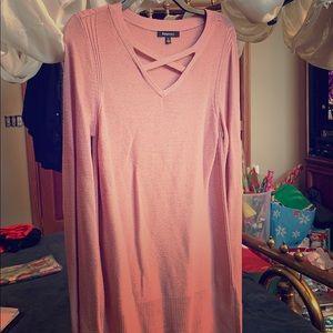 Rose gold light sweater. Relativity